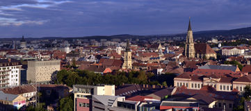 Panoramic view of Cluj Napoca, Transylvania Royalty Free Stock Photos