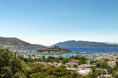 Panoramic view of  coast, Bodrum, Turkey Stock Image