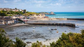 Panoramic view of the coast of Cancale stock images