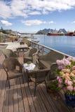 Panoramic view at Svolvaer in the Lofoten Royalty Free Stock Image