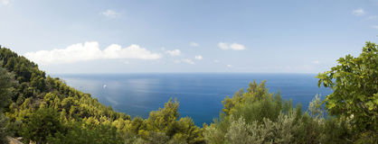 Panoramic view of the coast of Mallorca Spain. Panoramic view of the coast, Majorca, Spain Royalty Free Stock Photography