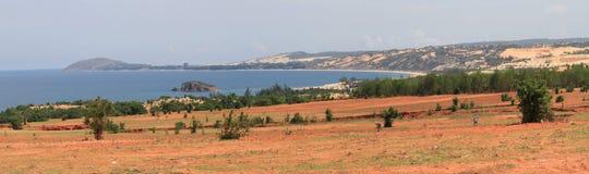 Panoramic view of coast of Mui Ne, Bình Thuận Province, Vietnam stock images