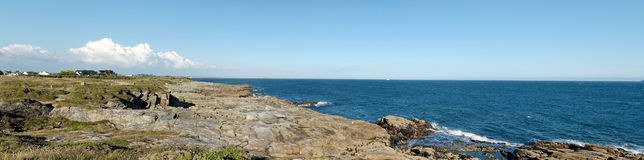 Panoramic view of the coast Stock Images