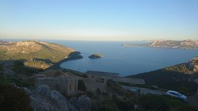 Panoramic view of a coast royalty free stock image