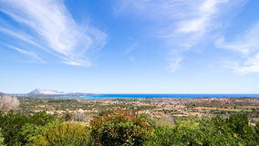 Panoramic view of the coast of San Teodoro in Sardinia Royalty Free Stock Images