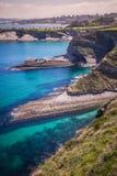 Panoramic view of the coast of Santander from the Bella Vista li Stock Photos