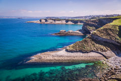 Panoramic view of the coast of Santander from the Bella Vista li Stock Photo