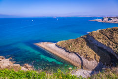 Panoramic view of the coast of Santander from the Bella Vista li Stock Image