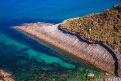 Panoramic view of the coast of Santander from the Bella Vista li royalty free stock photos