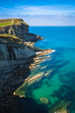 Panoramic view of the coast of Santander from the Bella Vista li stock images