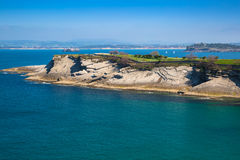 Panoramic view of the coast of Santander from the Bella Vista li Stock Photography