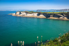 Panoramic view of the coast of Santander from the Bella Vista li Royalty Free Stock Photos