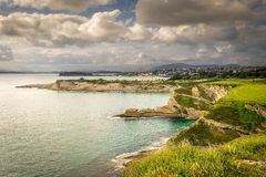 Panoramic view of the coast of Santander (Cantabria) Stock Images