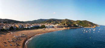 Panoramic view of coastline. Spain Royalty Free Stock Images