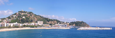 Panoramic view of coastline Blanes Royalty Free Stock Photos