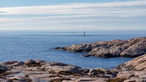 Tjurpannan nature reserve coast view. Panoramic view of the coastline in Tjurpannan nature reserve in Western Sweden stock images
