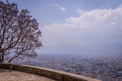 Panoramic view of Cochabamba, Bolivia royalty free stock photos