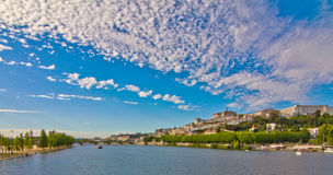 Panoramic View from Coimbra stock image