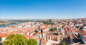 Panoramic view of Coimbra in Portugal Stock Images