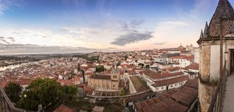 Panoramic view of Coimbra Portugal royalty free stock image