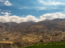 Panoramic view of Colca Canyon, Peru Royalty Free Stock Image