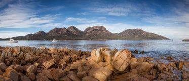 Coles Bay in the Freycinet National Park, Tasmania, Australia royalty free stock photos