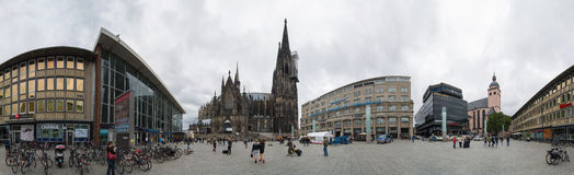 Panoramic view of the Cologne Cathedral. Germany. Royalty Free Stock Photos