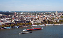 Panoramic view of Cologne Stock Images