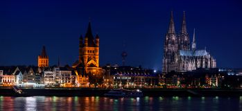 Panoramic view of Cologne, Germany Royalty Free Stock Photography