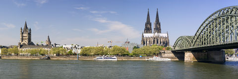Panoramic view of cologne Xlarge royalty free stock images