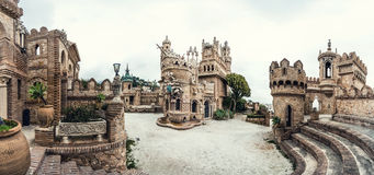 Panoramic view of Colomares Castle stock images
