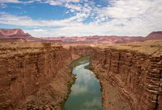 Panoramic view of Colorado River, Marble Canyon Arizona royalty free stock photo