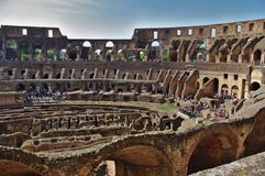 Panoramic view of Colosseum royalty free stock photos