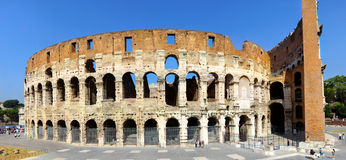 Panoramic view of the Colosseum in Rome Royalty Free Stock Photo