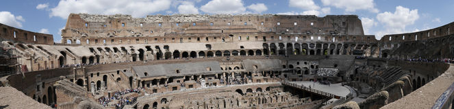 Panoramic view of the Colosseum in Rome Italy Stock Image