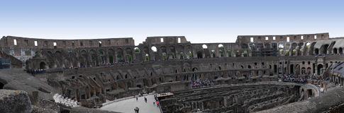 Panoramic view of the Colosseum in Rome Italy stock photography