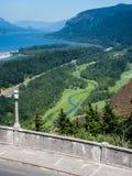 Panoramic view of Columbia River Gorge - Oregon, USA stock photos
