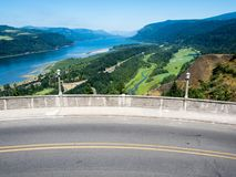 Panoramic view of Columbia River Gorge - Oregon, USA stock photography