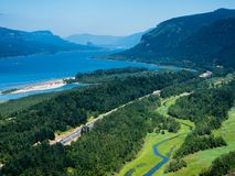 Panoramic view of Columbia River Gorge - Oregon, USA royalty free stock photo