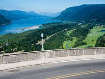 Panoramic view of Columbia River Gorge - Oregon, USA stock photo