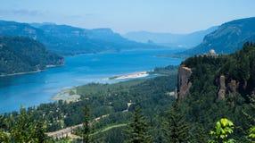 Panoramic view of Columbia River Gorge - Oregon, USA stock image