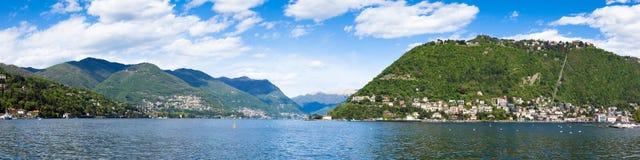 Panoramic view of Como city and lake near Milan in Italy. Panoramic view of Como city and lake near Milan - Italy Stock Photos
