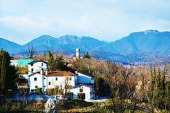 Panoramic view of Conegliano Veneto from Castello Royalty Free Stock Image