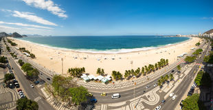 Panoramic view of Copacabana beach Royalty Free Stock Image