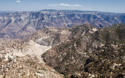 Panoramic view of  Copper Canyon, northwestern Mexico Royalty Free Stock Photography