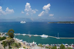 Panoramic view  Corfu Royalty Free Stock Photo
