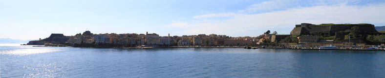 Panoramic view of Corfu Royalty Free Stock Images