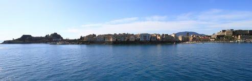 Panoramic view of Corfu Royalty Free Stock Photos