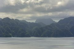 Panoramic view of Coron Island, Palawan, Philippines Royalty Free Stock Photo