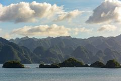 Panoramic view of Coron Island, Palawan, Philippines Royalty Free Stock Image